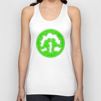 magic the gathering Tank Tops featuring Magic the Gathering, Neon Green Mana by Thorn Blackstar
