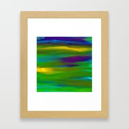 Green Mardi Gras Abstract Framed Art Print