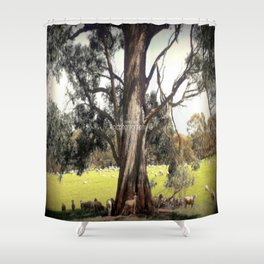 Under the shade of a Coolabah Tree Shower Curtain