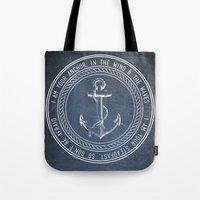 anchor Tote Bags featuring Anchor by Zeke Tucker