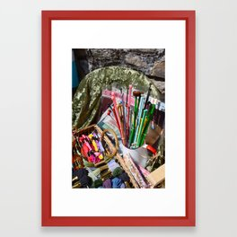 Summer Craft Fair 2 Framed Art Print