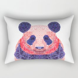 Don't Be Scared To Be Different If You're Already Rare (Panda Animal Painting Stippled Pop Art) Rectangular Pillow