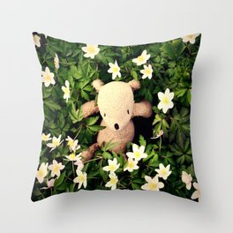 Yeah, Spring flowers Throw Pillow