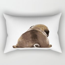 Pug Butt Rectangular Pillow