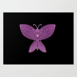 Butterfly Drawing Art Print