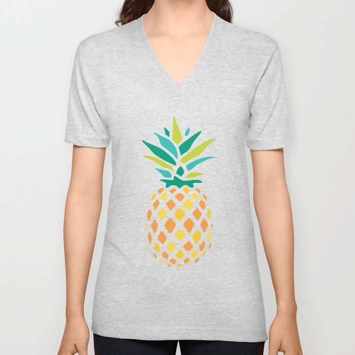 Summer Pineapple Unisex V-Neck