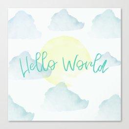 Hello World Canvas Print