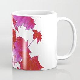 PURPLE-fuchsia maroon color blowing leaves Coffee Mug