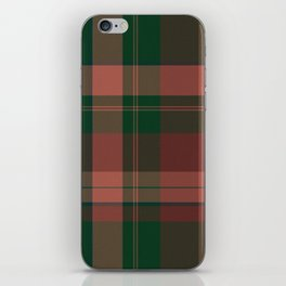 Wool-like plaid iPhone Skin