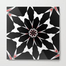 Bizarre Red Black and White Pattern 4 Metal Print