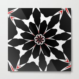 Bizarre Red Black and White Pattern 4 Metal Print