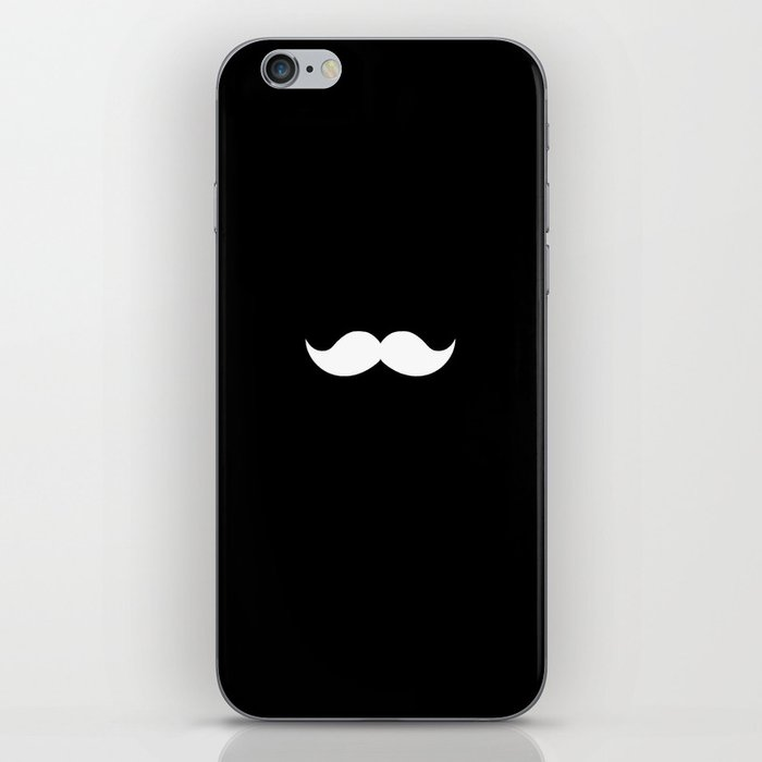 black mustache iPhone Skin