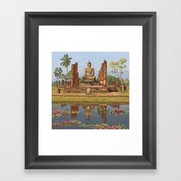 Sukhothai Buddha Framed Art Print