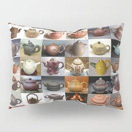 Yixing Teapot Montage Pillow Sham