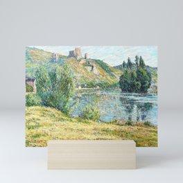 12,000pixel-500dpi - Ruins of Chateau Gaillard, The Seine River - Digital Remastered Edition Mini Art Print