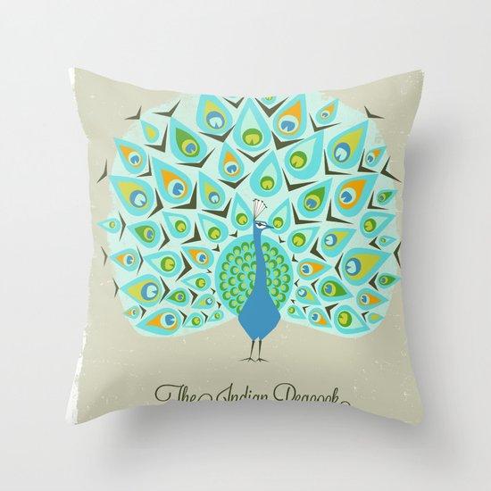 The Indian Peacock Throw Pillow