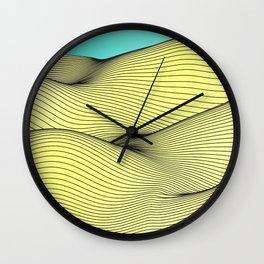 Yellow Landscape Wall Clock