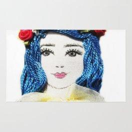 Girl With the Blue Hair Rug