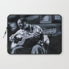 Blues Man With Guitar Laptop Sleeve