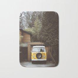Yellow Van Ready For Road Bath Mat