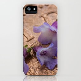 tiny flowers on a coin iPhone Case