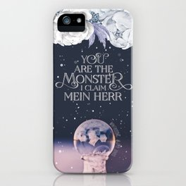 Wintersong - You are the monster I claim iPhone Case