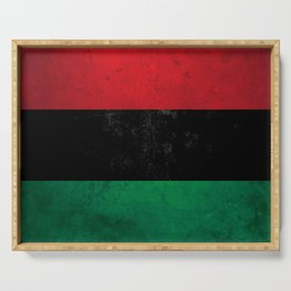 Distressed Afro-American / Pan-African / UNIA flag Serving Tray