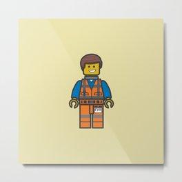 #10 Emmet Lego Metal Print