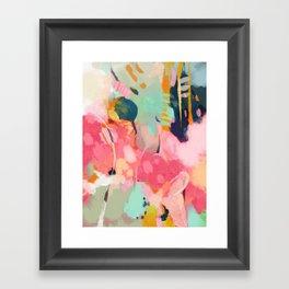 spring moon earth garden Framed Art Print
