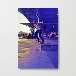 Colorful Skater Metal Print