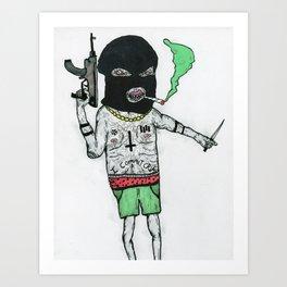 Crime Boy 2000 Art Print