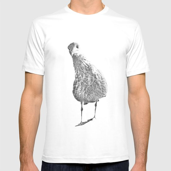 Inquisitive seagull T-shirt