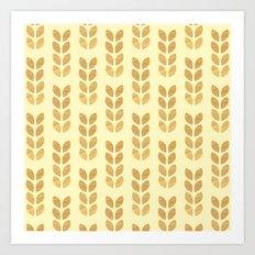 Golden geometric knit inspired Art Print