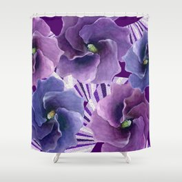 Purple Floral Inspiration Shower Curtain