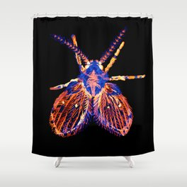 Drain Fly Inverted Shower Curtain