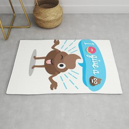 I dont give a shit donut funny cool Rug