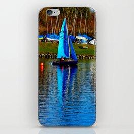 Little Blue Sailboat  iPhone Skin