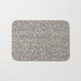 Silver Glitter I Bath Mat