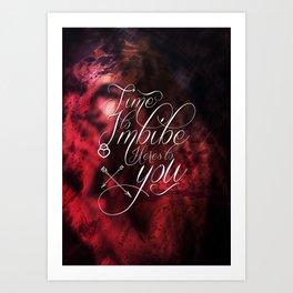 Imbibe Art Print