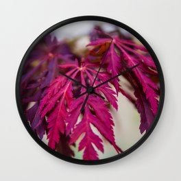 Autumn leaves in the summer Wall Clock