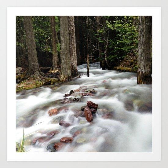 Run River, Run Art Print