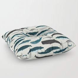 Whales and Porpoises sea life ocean animal nature animals marine biologist Andrea Lauren Floor Pillow