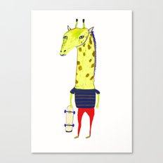 Giraffe Dude. Canvas Print