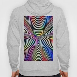 Holographic hypnotic pattern. Colorful iridescent effect. Hoody