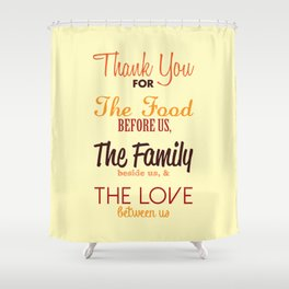 Thanksgiving Grace | Fall Colors Shower Curtain