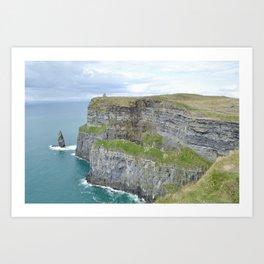 Cliffs of Moher + O'Brien's Tower, Ireland Art Print