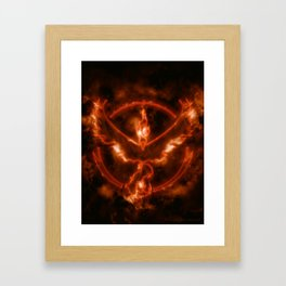 Team Valor - Moltres Framed Art Print