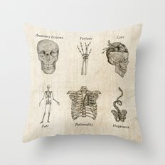 Anatomy lessons Throw Pillow