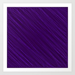 Vintage ornament of their violet threads and repetitive intersecting fibers. Art Print