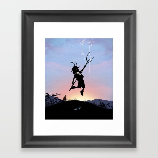 Loki Kid Framed Art Print